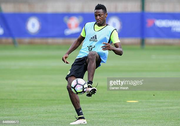 Baba Rahman at Chelsea Training Ground on July 13 2016 in Cobham England