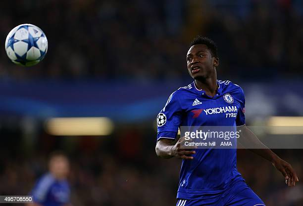 Baba Rahman of Chelsea during the UEFA Champions League Group G match between Chelsea and Dynamo Kyiv at Stamford Bridge on November 4 2015 in London...