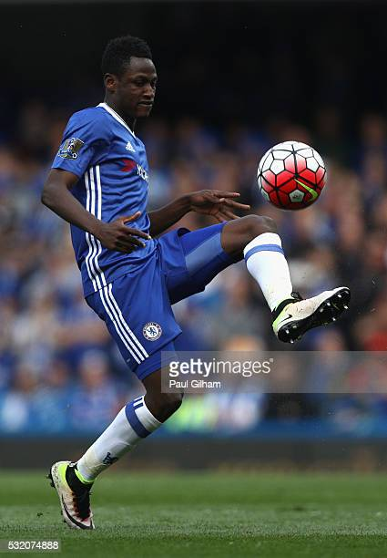 Baba Rahman of Chelsea in action during the Barclays Premier League match between Chelsea and Leicester City at Stamford Bridge on May 15 2016 in...