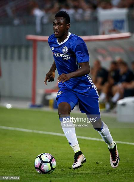 Baba Rahman of Chelsea in action during the friendly match between WAC RZ Pellets and Chelsea FC at Worthersee Stadion on July 20 2016 in Velden...