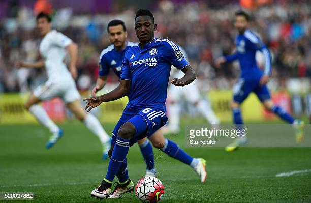 Baba Rahman of during the Barclays Premier League match between Swansea City and Chelsea at Liberty Stadium on April 9 2016 in Swansea Wales