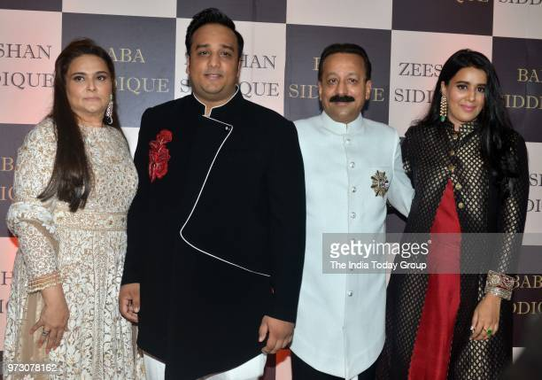 Baba Siddique along with his family at his Iftar party in Mumbai