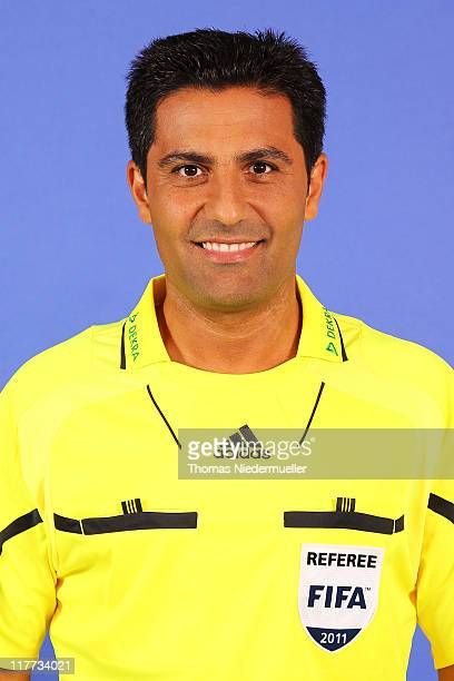 Babak Rafati poses during the German Football Association photocall at the Dekra Congress Center on June 30 2011 in Altensteig Germany