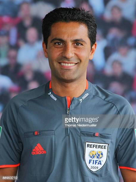 Babak Rafati poses during the German Football Association referee meeting on July 9 2009 in Altensteig Germany