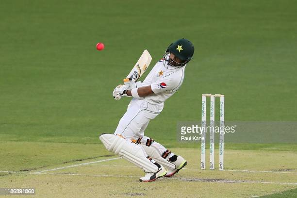 Babar Azam of Pakistan avoids a rising delivery during the International Tour match between Australia A and Pakistan at Optus Stadium on November 11...