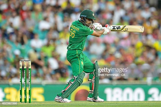 Babar Azam of Pakistan bats during game four of the One Day International series between Australia and Pakistan at Sydney Cricket Ground on January...