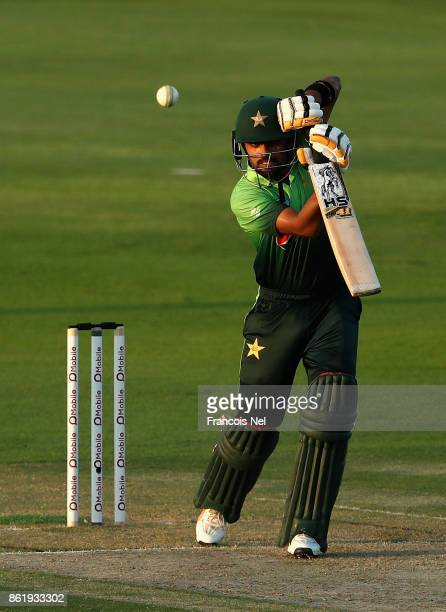 Babar Azam of Pakistan bats during the second One Day International match between Pakistan and Sri Lanka at Zayed Cricket Stadium on October 16 2017...