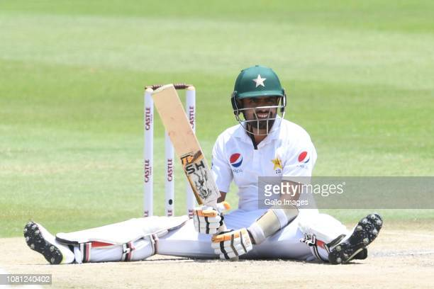 Babar Azam of Pakistan during day 2 of the 3rd Castle Lager Test match between South Africa and Pakistan at Bidvest Wanderers Stadium on January 12...