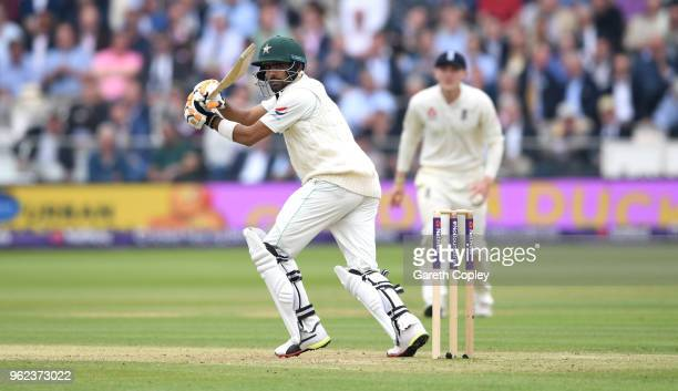 Babar Azam of Pakistan during day two of the 1st NatWest Test match between England and Pakistan at Lord's Cricket Ground on May 25 2018 in London...