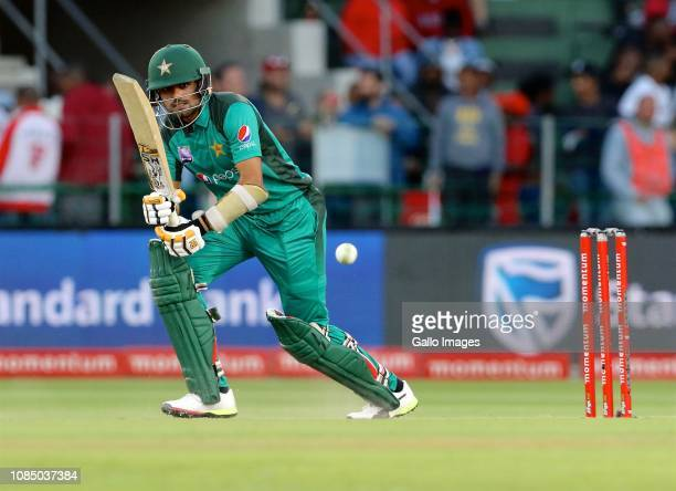 Babar Azam of Pakistan during the 1st Momentum One Day International between South Africa and Pakistan at St Georges Park on January 19 2019 in Port...