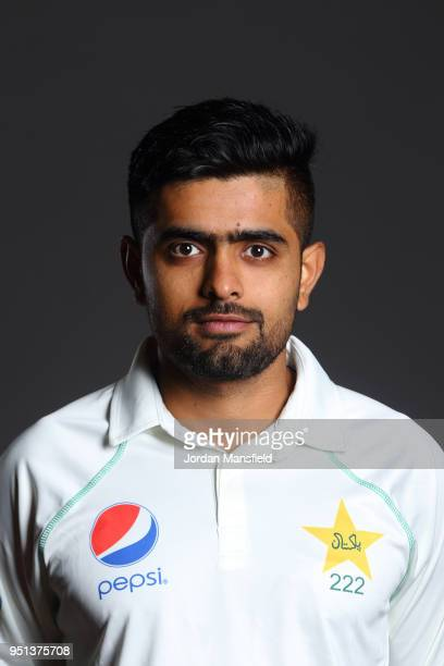 Babar Azam poses for a portrait during the Pakistan Headshot Session at The Spitfire Ground on April 25 2018 in Canterbury England