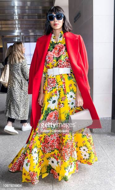 Babba C Rivera is seen arriving to Carolina Herrera Fall/Winter 2019 Fashion Show during New York Fashion Week at the New York Historical Society on...