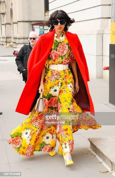 Babba C Rivera is seen outside Carolina Herrera Fashion Show on February 11, 2019 in New York City.