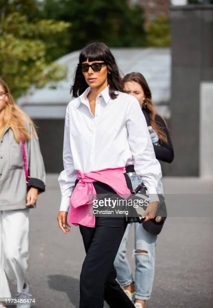 Babba Rivera is seen outside Carolina Herrera during New York Fashion Week September 2019 on September 09, 2019 in New York City.