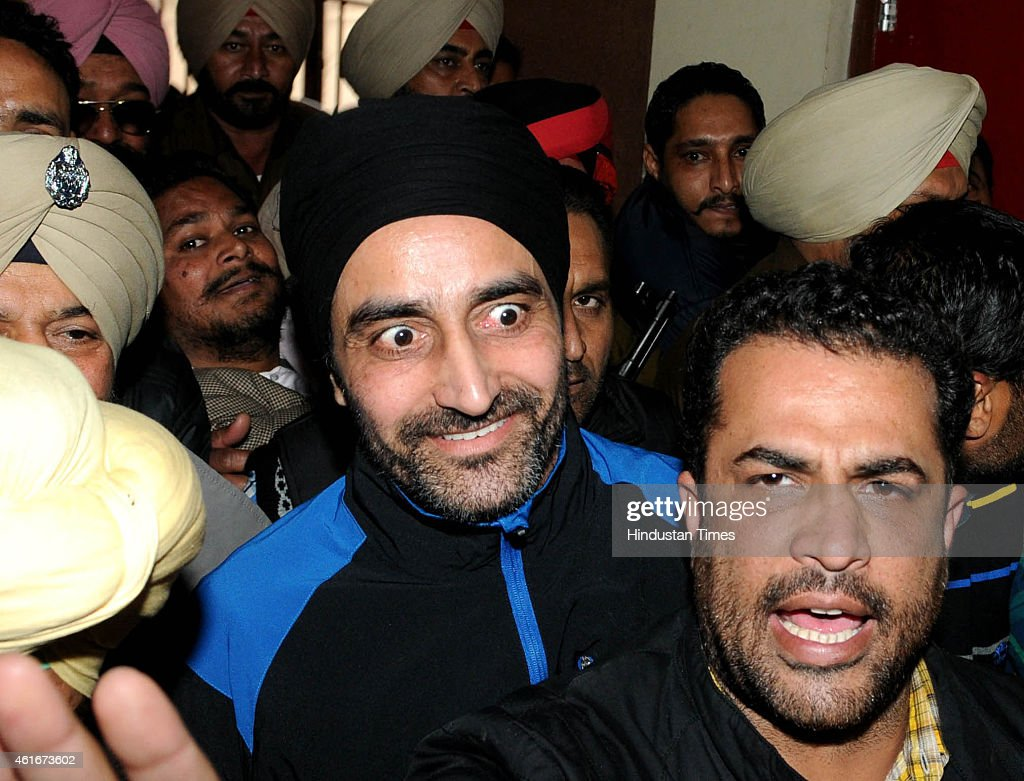 Babbar Khalsa International militant Jagtar Singh Tara coming out of Patiala district court on January 17 2015 in Patiala India Jagtar Singh Tara has.