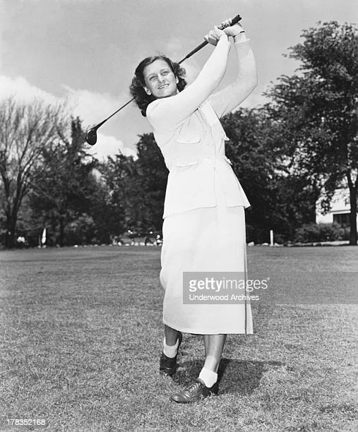 Babe Didrikson golfing in a promo photograph for Wilson Sporting Goods c 1950