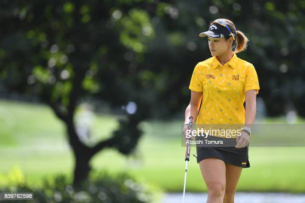 Babe Liu of Taiwan looks on during the final round of the Nitori Ladies 2017 at the Otaru Country Club on August 27 2017 in Otaru Hokkaido Japan