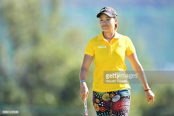 Babe Liu of Taiwan looks on during the third round of the Nitori Ladies 2016 at the Otaru Country Club on August 27 2016 in Otaru Japan