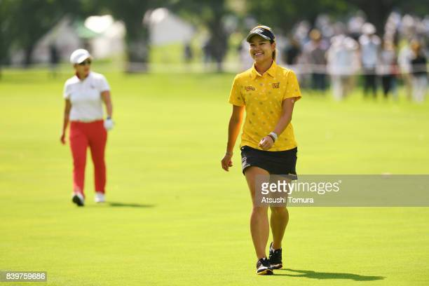 Babe Liu of Taiwan smiles during the final round of the Nitori Ladies 2017 at the Otaru Country Club on August 27 2017 in Otaru Hokkaido Japan