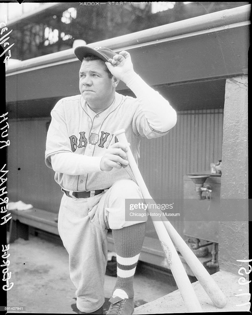 Babe Ruth, Boston Braves Baseball Player : News Photo