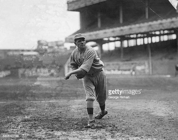 Babe Ruth famous baseball player in his lesserknown days as a Boston Red Sox player where he was a pitcher
