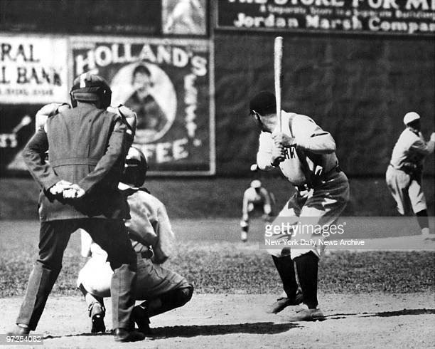 Babe Ruth gets ready to swing Bambino closes out Roaring Twenties with another amazing season with 46 home runs 154 RBI 345 average but Yankees...
