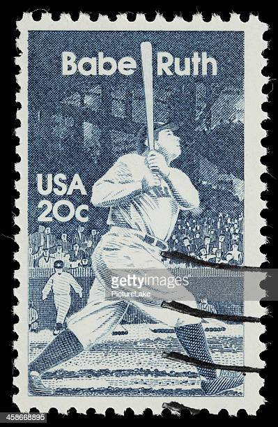 米国 Babe Ruth 郵便切手