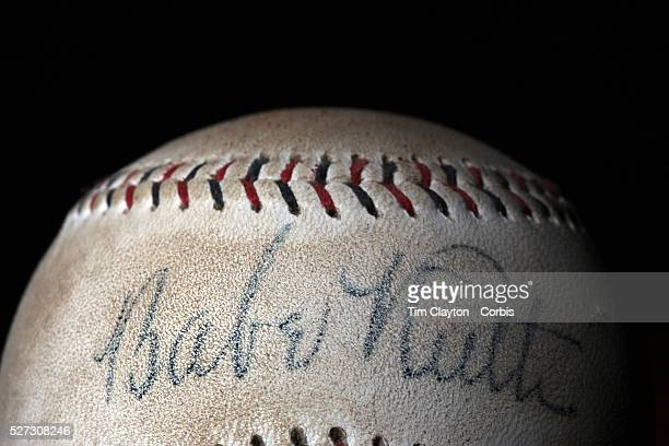 A Babe Ruth signed antique vintage baseball 7th June 2012 Photo Tim Clayton