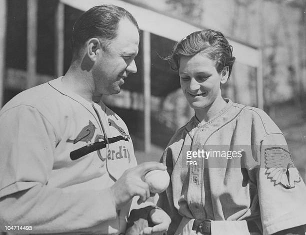 Babe Zaharias American athlete and baseball player Burleigh Grimes of the St Louis Cardinals at Hot Springs Arkansas USA circa 1933