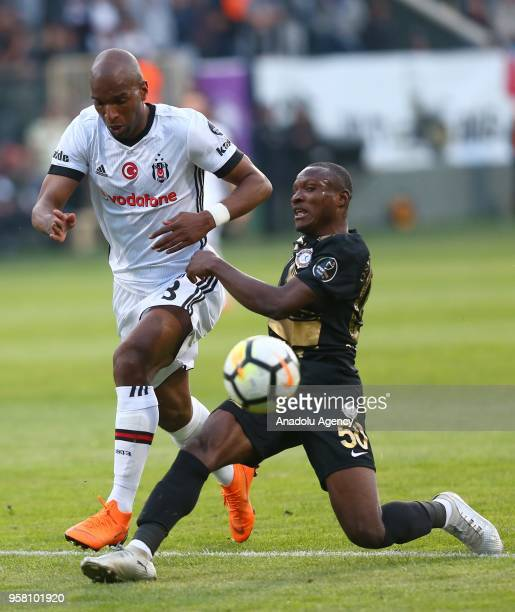 Babel of Besiktas in action against Aminu Umar of Osmanlispor during Turkish Super Lig match between Osmanlispor and Besiktas at Yenikent Osmanli...