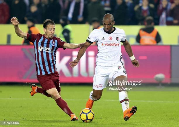 Babel of Besiktas in action against Pereira of Trabzonspor during the Turkish Super Lig soccer match between Trabzonspor and Besiktas at Medical Park...