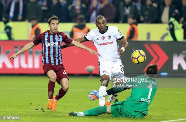 Babel of Besiktas in action during the Turkish Super Lig soccer match between Trabzonspor and Besiktas at Medical Park Stadium in Trabzon Turkey on...