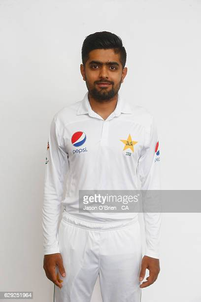 Baber Azam poses during the Pakistan Test team headshots session on December 12 2016 in Brisbane Australia