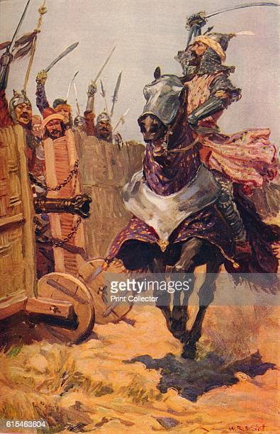 Baber Cheering On His Troops' c1526 Babur cheering on his troups possibly at the First Battle of Panipat 1526 From The Romance of India edited by...