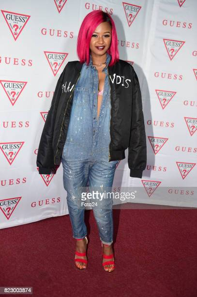 Babes Wodumo during the Guess spring 2017 collection preview at the Tin Factory Krammerville on July 20 2017 in Sandton South Africa The event graced...
