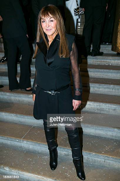 Babeth Djian poses after arriving at Les BeauxArts de Paris on October 8 2013 in Paris France On this occasion Ralph Lauren celebrates the...