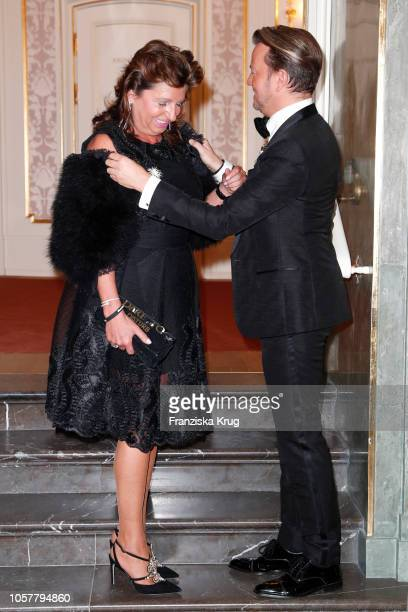 Babette Albrecht and Sandro Rath during the 21st Busche Gala at Staatsoper on November 5 2018 in Berlin Germany