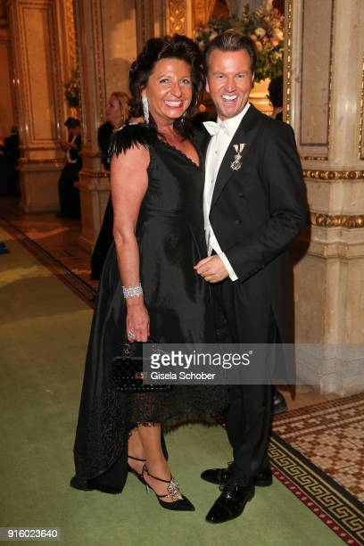 Babette Albrecht and Sandro Rath during the Opera Ball Vienna at Vienna State Opera on February 8 2018 in Vienna Austria