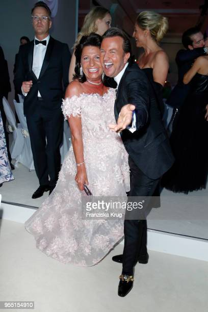 Babette Albrecht and Sandro Rath during the Rosenball charity event at Hotel Intercontinental on May 5 2018 in Berlin Germany