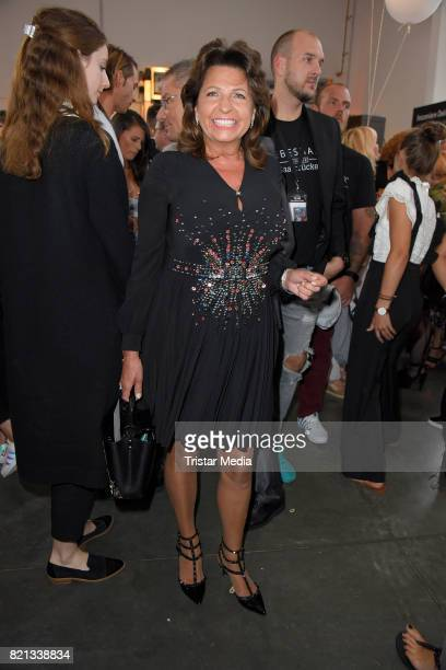 Babette Albrecht attends the Thomas Rath show during Platform Fashion July 2017 at Areal Boehler on July 23 2017 in Duesseldorf Germany