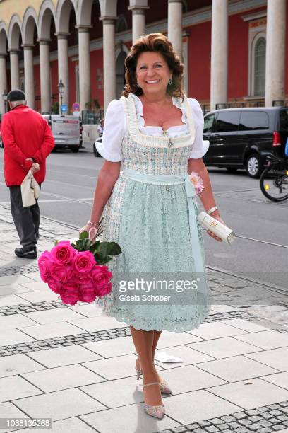 Babette Albrecht during the 'Fruehstueck bei Tiffany' at Tiffany Store ahead of the Oktoberfest on September 22 2018 in Munich Germany