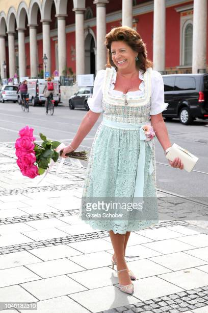 Babette Albrecht during the 'Fruehstueck bei Tiffany' at Tiffany Store ahead of the Oktoberfes on September 22 2018 in Munich Germany
