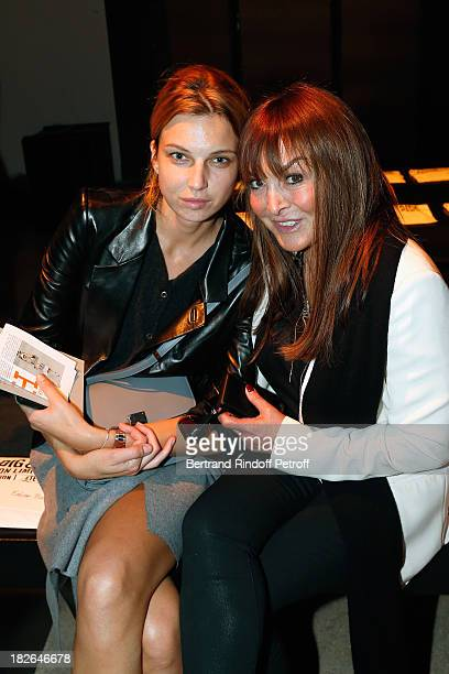 Babette Djian and guest attend the Zadig Voltaire show as part of the Paris Fashion Week Womenswear Spring/Summer 2014 at the Palais De Tokyo on...