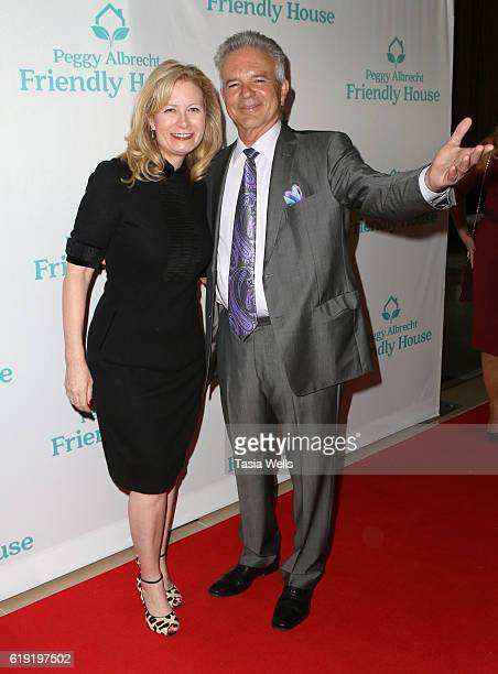 Babette Ison and actor Tony Denison attend the Peggy Albrecht Friendly House's 27th Annual Awards Luncheon at The Beverly Hilton Hotel on October 29...