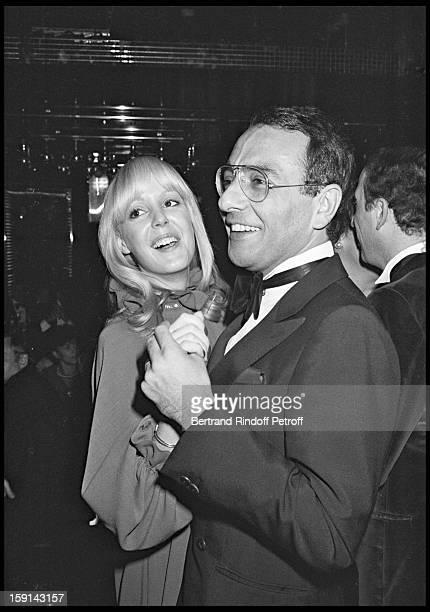 Babette Sardou and Yves Mourousi attend birthday party of Michel Sardou at Elysse Matignon night club in 1978