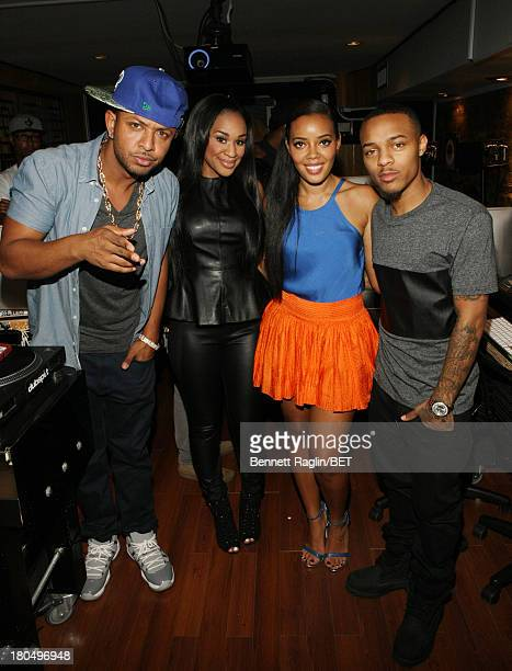 DJ Babey Drew DJ Traci Steele Angela Simmons and Bow Wow attend 106 Park On The Road at DubSpot on September 11 2013 in New York City