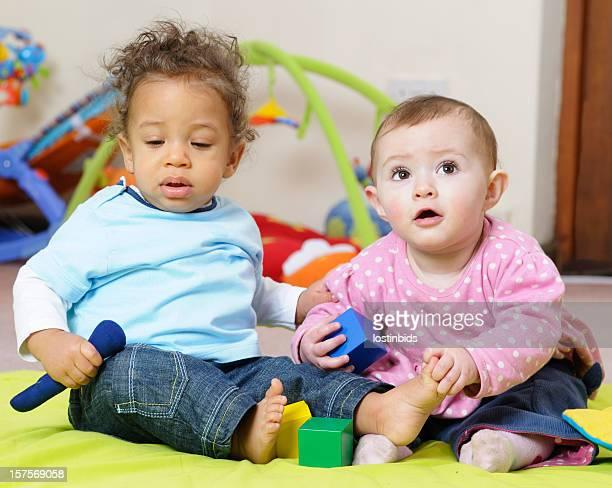 Babies Enjoying Interactive Play