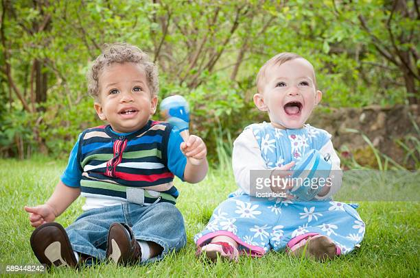 Babies Enjoying Music Through Play