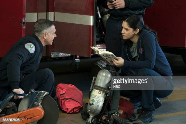 FIRE 'Babies Fools' Episode 517 Pictured David Eigenberg as Christopher Herrmann Miranda Rae Mayo as Stella Kidd