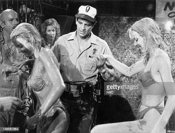 BLUES BaBing BaBing Episode 2 Pictured Ed Marinaro as Officer Joe Coffey Denise and Dian Gallup as Babette and Bunny Babing